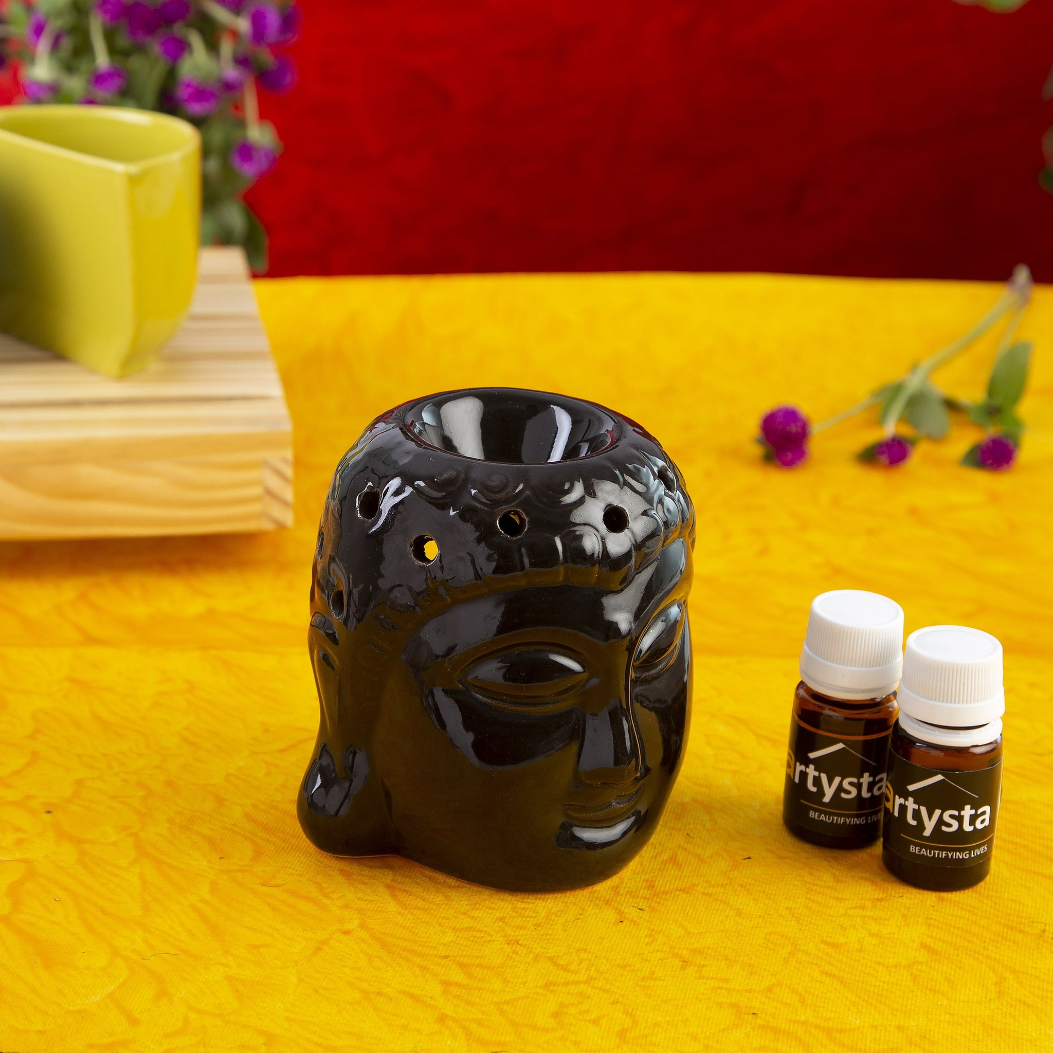 Ceramic Buddha Head Aroma therapy Essential Oil Diffuser