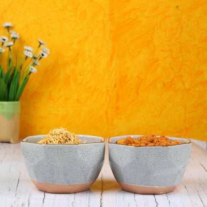 Grey Ceramic Bowls Set Of 2