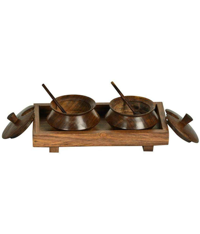 Spice Stroage Jars/ Containers With Wooden Tray