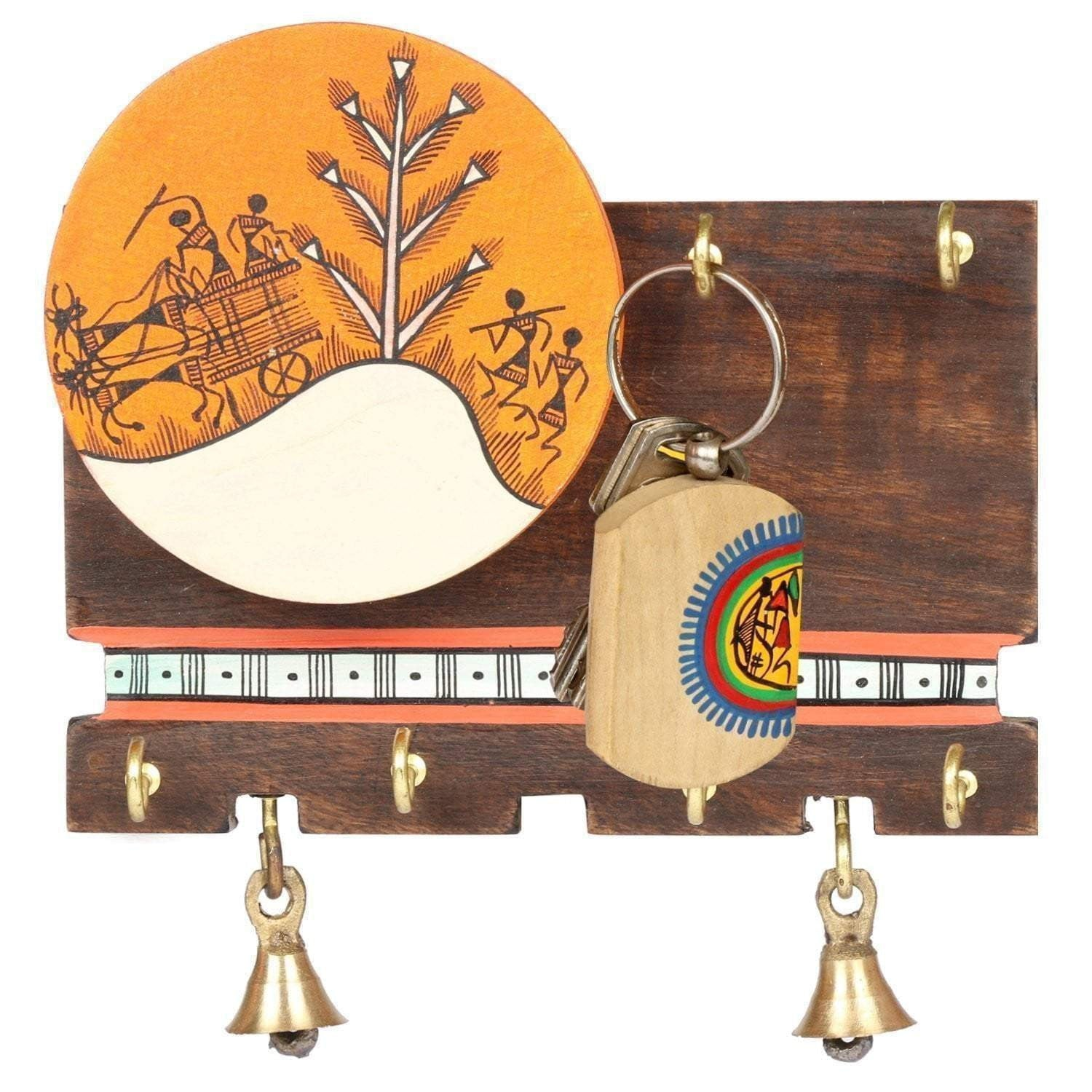 Handcrafted Wooden Wall Mounted Modern Key Holder