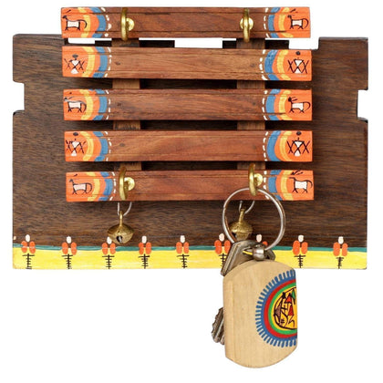 Decorative Handcrafted Wooden Key Organizer