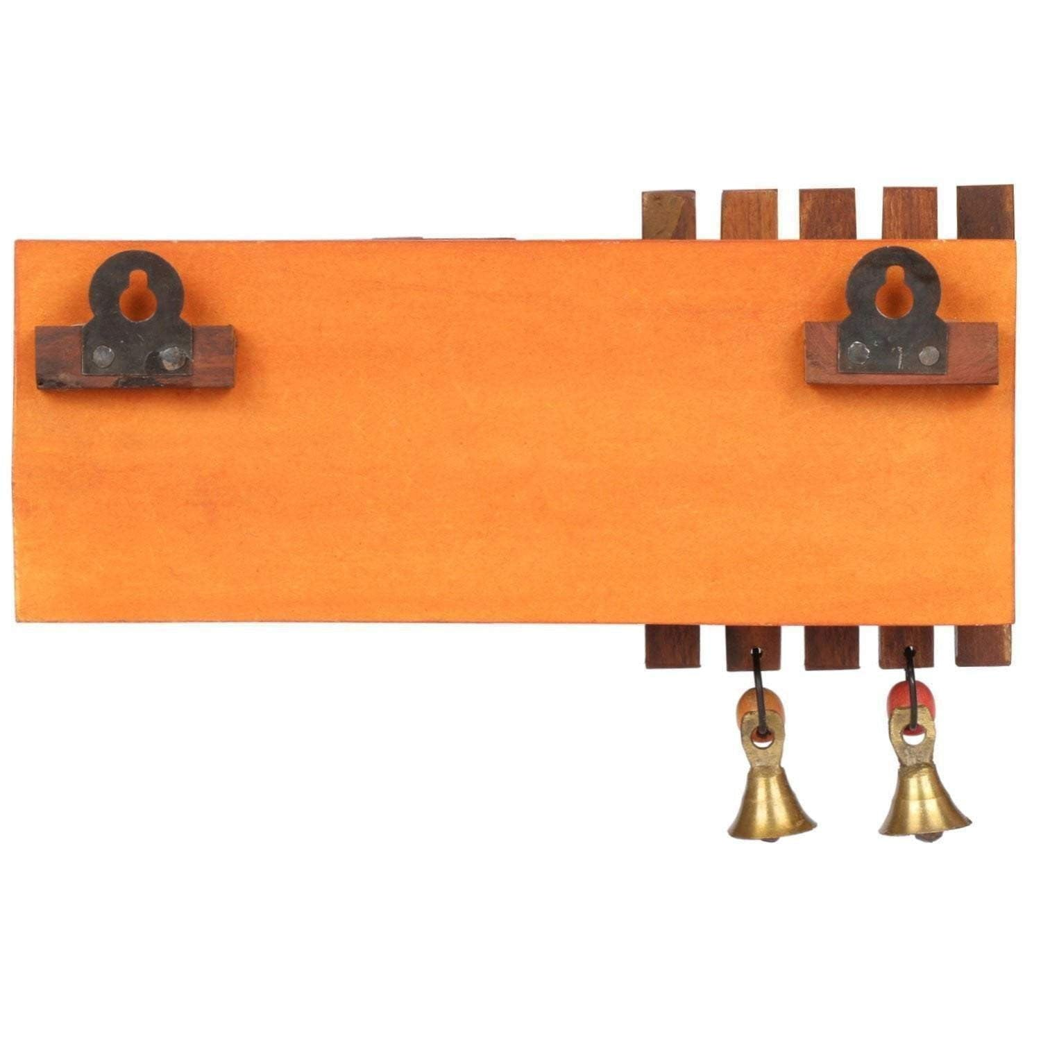 Handicraft Wooden Key Holder For Wall With Warli Art