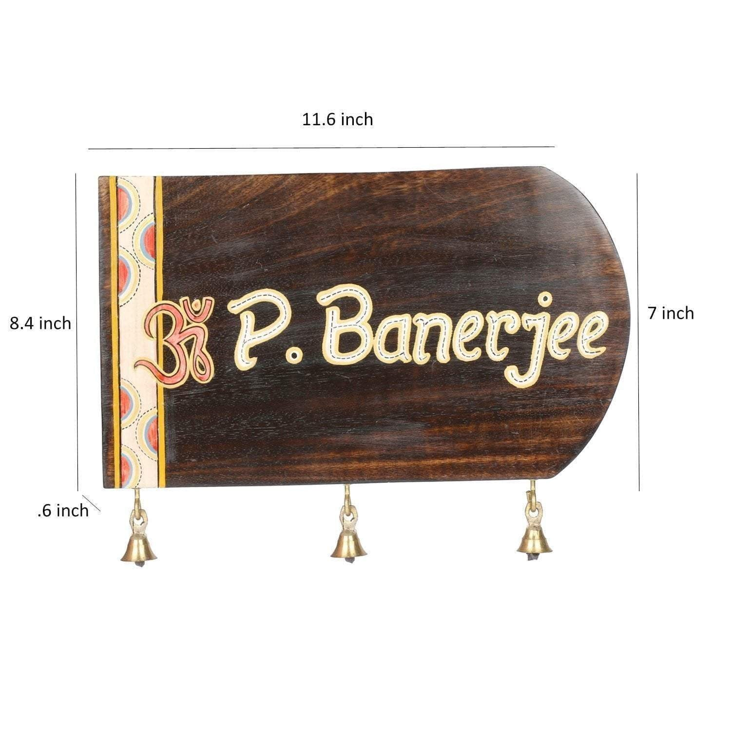 Customize Teak Wood Door Name Plate With Dhokra And Warli