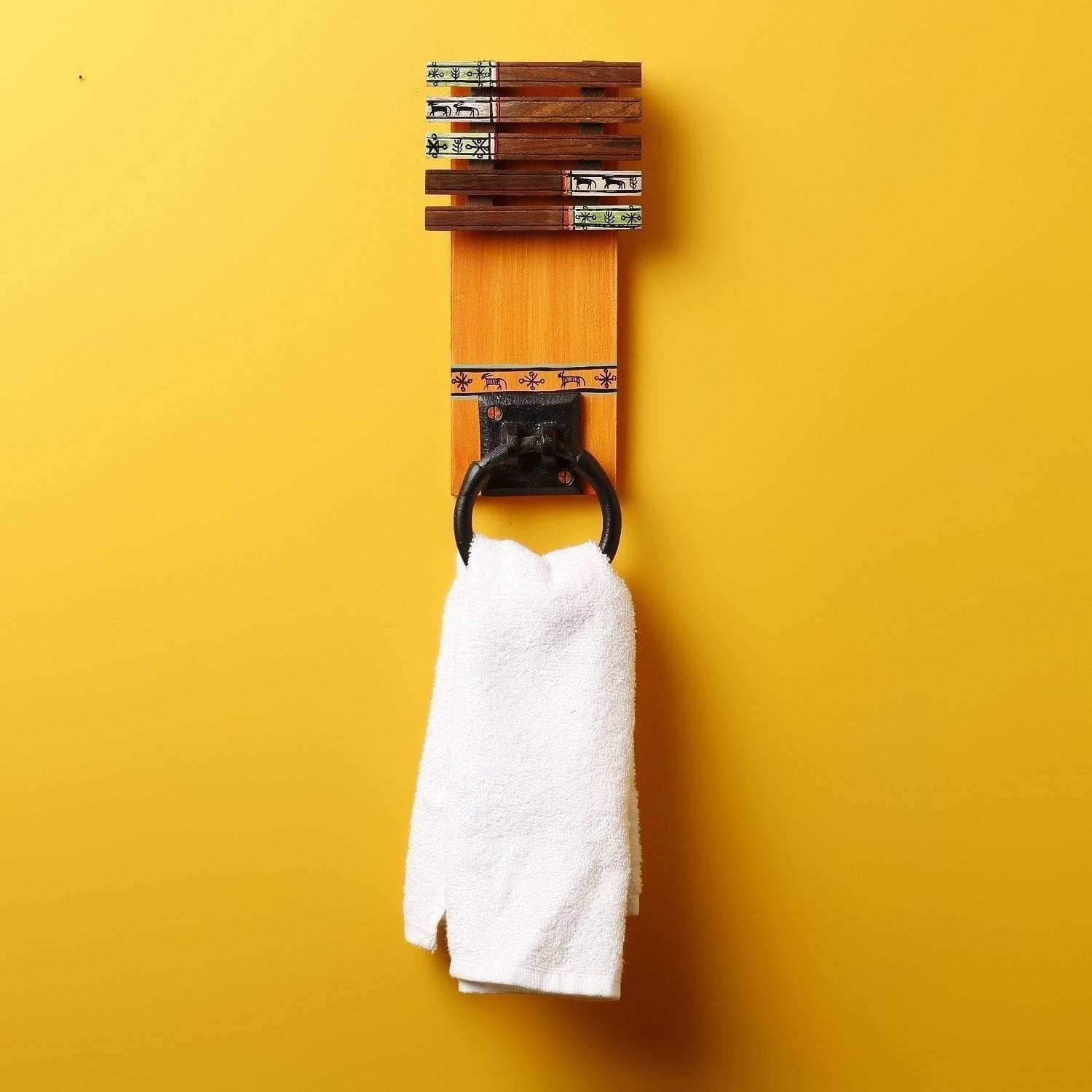 Handcrafted Wooden Towel Hanger