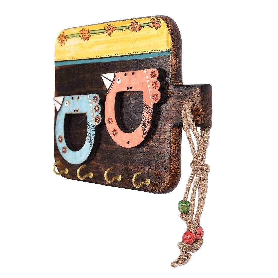Handmade Wooden Decorative Key Holder For Wall