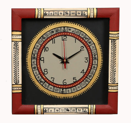 IndiaSupply Traditional Wall Clock for Home (Black)