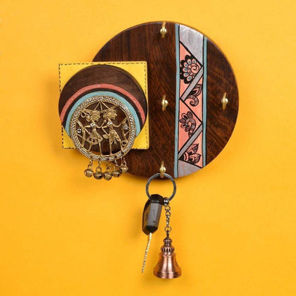 Online Hand Crafted Wall Mounted Key Holder For Living Room| Key Hanger For Wall