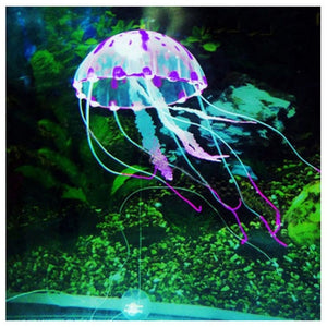 Luminous jellyfish aquarium decor
