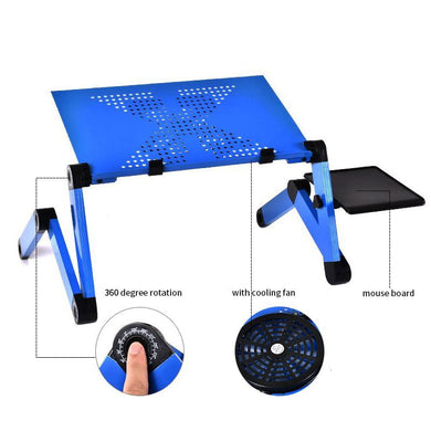 Portable ergonomic laptop table and stand