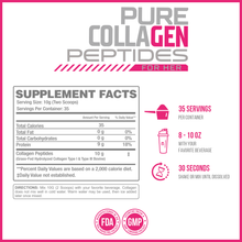 Load image into Gallery viewer, Pure Collagen Peptides Unflavored 35 Servings