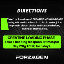 Load image into Gallery viewer, Creatine Monohydrate Powder Unflavored - 80 Servings