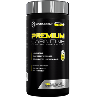 Premium L Carnitine + CLA + Raspberry Ketones 120 Weight Loss Capsules