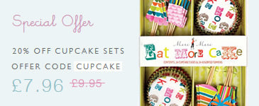 Special Offer - 20% off cupcake kits