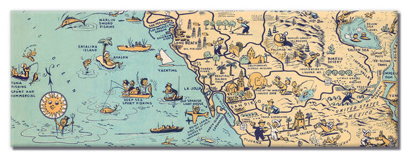 Golden State (San Diego) Long Magnet - ImageExchange