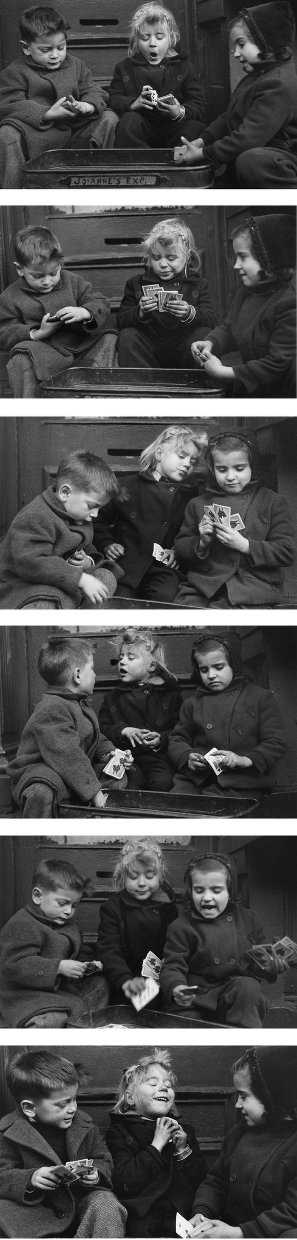 Card Players, New York City, 1947 Photograph (Set of 6) - ImageExchange