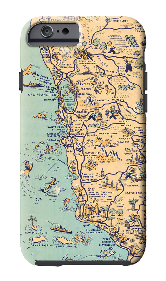 Golden State (Central Coast) Cell Phone Case - ImageExchange