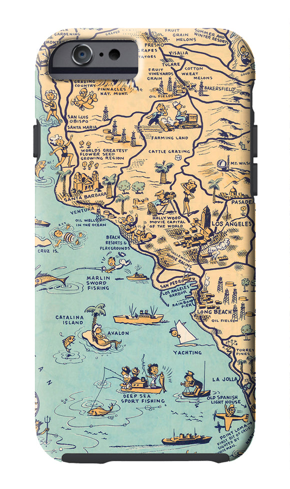 Golden State (Los Angeles) Cell Phone Case - ImageExchange