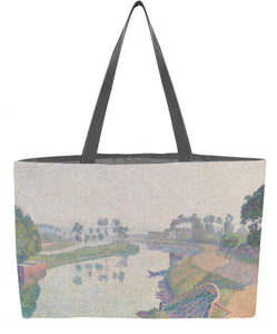 Banks of the Oise at Dawn Weekender Tote - ImageExchange