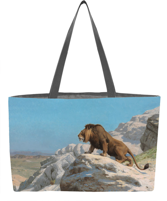 Lion on the Watch Weekender Tote - ImageExchange