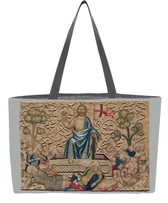 The Resurrection, from an Embroidered Altar Frontal Weekender Tote - ImageExchange