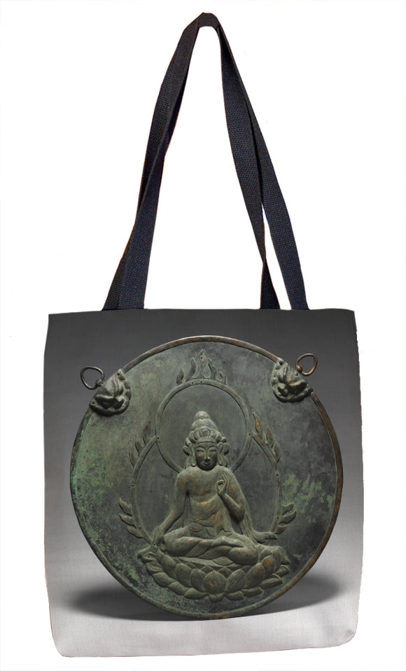 Votive Hanging with Image of Kannon (Kannon Kakebotoke) Tote Bag - ImageExchange