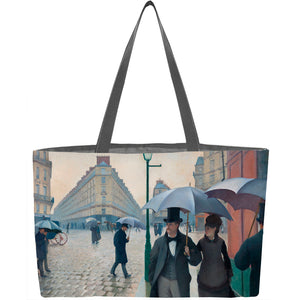 Paris Street; Rainy Day Weekender Tote - ImageExchange