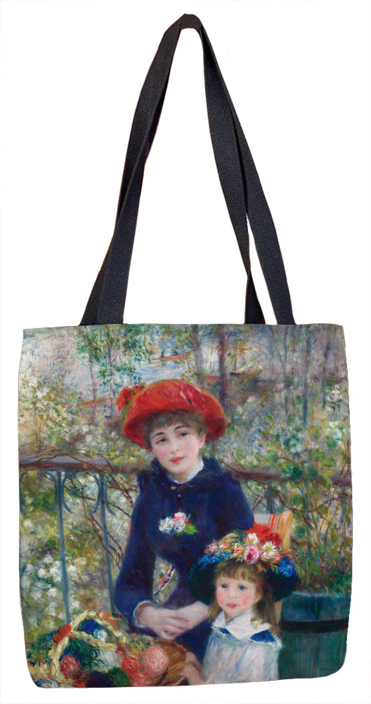 Two Sisters (On the Terrace) Tote Bag - ImageExchange