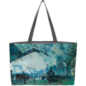 Arrival of the Normandy Train, Gare Saint-Lazare Weekender Tote - ImageExchange