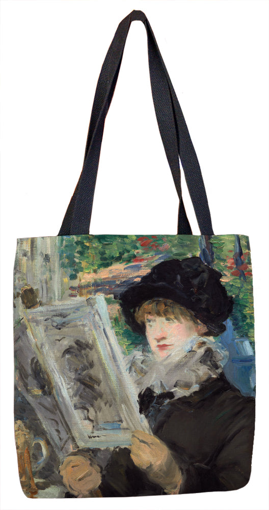 Woman Reading Tote Bag - ImageExchange