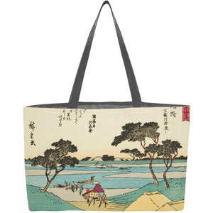 Mitsuke: Ferries Crossing the Tenryu River Weekender Tote - ImageExchange