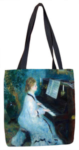 Woman at the Piano Tote Bag - ImageExchange
