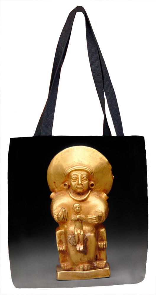 Seated goddess with a child Tote Bag - ImageExchange