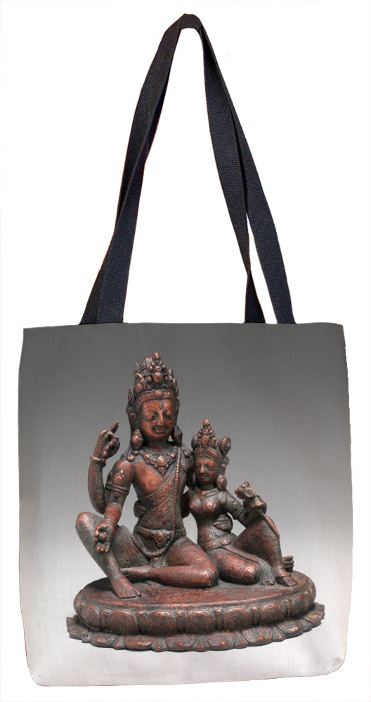 Shiva Seated with Uma (Umamaheshvara) Tote Bag - ImageExchange