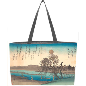 Tamagawa Shugetsu Autumn Moon on the Tama River Weekender Tote - ImageExchange