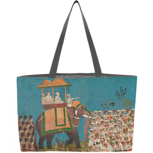 Three Noblemen in Procession on an Elephant Weekender Tote - ImageExchange