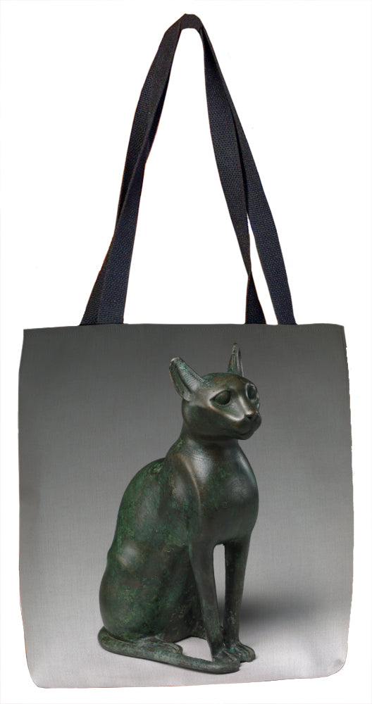 Cat Statuette intended to contain a mummified cat Tote Bag - ImageExchange