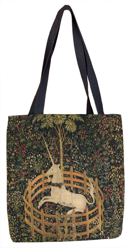 The Unicorn Rests in a Garden (from the Unicorn Tapestries) Tote Bag - ImageExchange