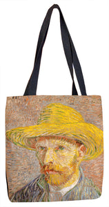 Self-Portrait with a Straw Hat (obverse: The Potato Peeler) Tote Bag - ImageExchange