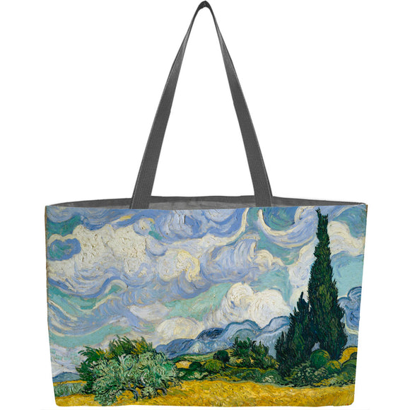 Wheat Field with Cypresses Weekender Tote - ImageExchange