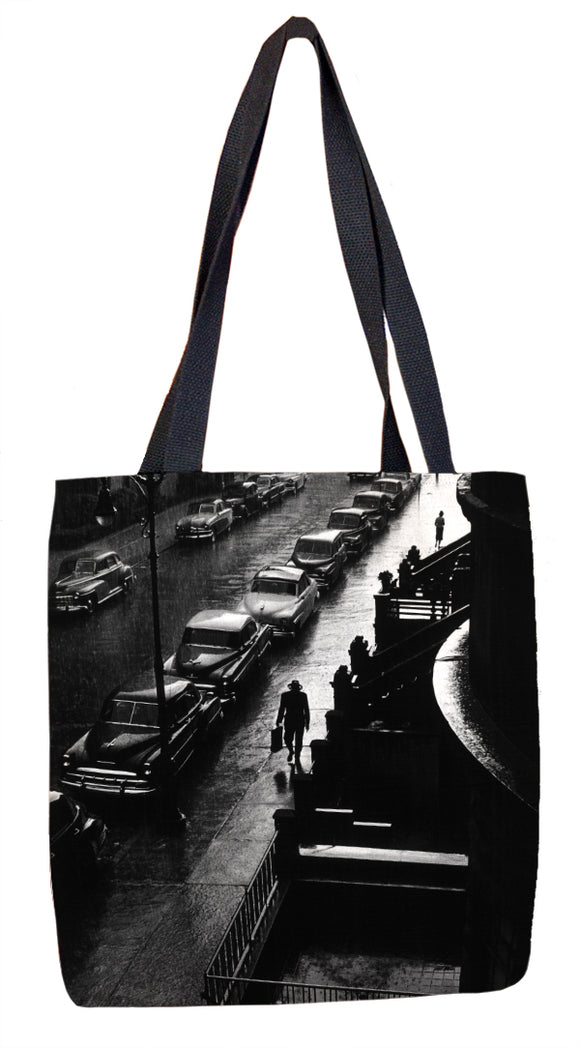 Man in Rain Tote Bag - ImageExchange