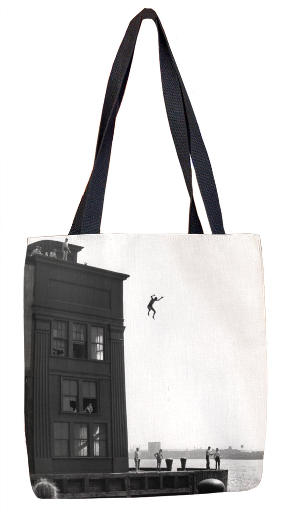 Boy Jumping Tote Bag - ImageExchange