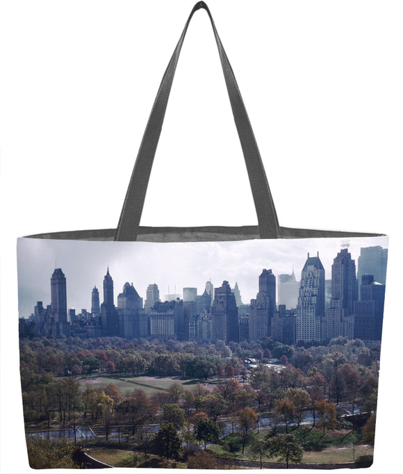 Central Park South Autumn Skyline Everything Tote - ImageExchange