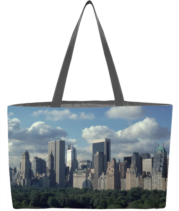 Central Park South Skyline with Clouds Everything Tote - ImageExchange