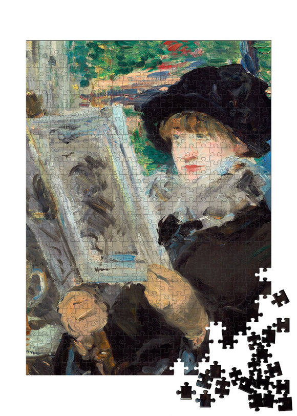 Woman Reading Puzzle - ImageExchange