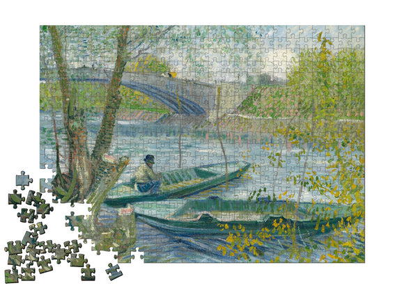 Fishing in Spring, the Pont de Clichy (Asni�res) Puzzle - ImageExchange