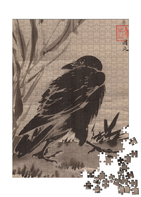Crow and Reeds by a Stream Puzzle - ImageExchange