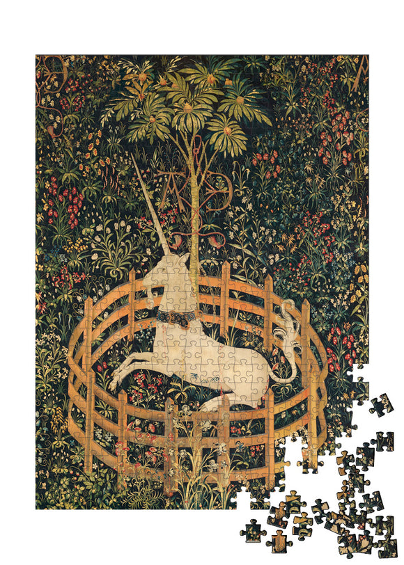 The Unicorn Rests in a Garden (from the Unicorn Tapestries) Puzzle - ImageExchange