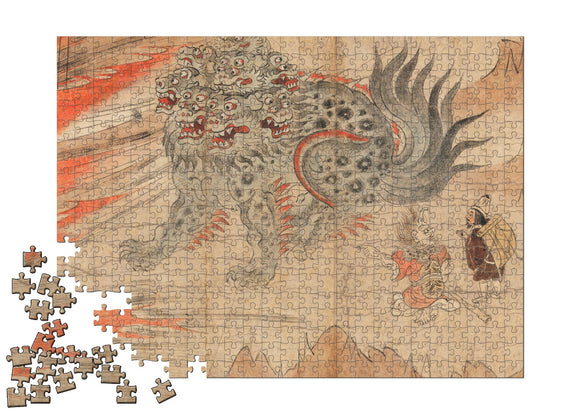 Illustrated Legends of the Kitano Tenjin Shrine (Kitano Tenjin engi emaki) Puzzle - ImageExchange