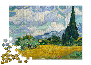 Wheat Field with Cypresses Puzzle - ImageExchange