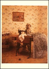 Piecing Together A Gown, 1992 Postcards (Set of 12) - ImageExchange